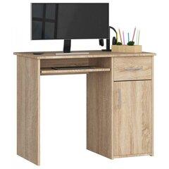Kirjutuslaud Pin, tamm hind ja info | Arvutilauad, kirjutuslauad | kaup24.ee