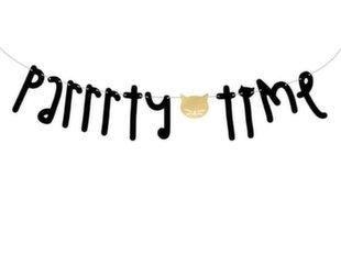 Гирлянда Cat Parrrty Time, черного и золотого цвета, 12x130 см, 1 коробка/ 50 упаковок (1 упаковка/1 шт)