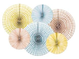 Dekoratiivsed rosetid Summer Time Mix, 1 karp/50 pak (1 pak/6 tk) hind ja info | Peokaunistused | kaup24.ee