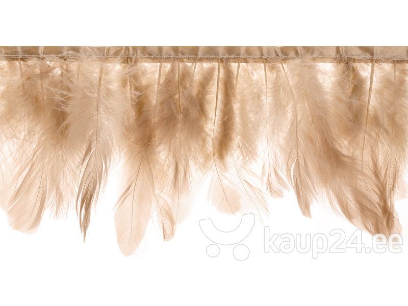 Гирлянда Feather Beige Pink 17 см, 1 м