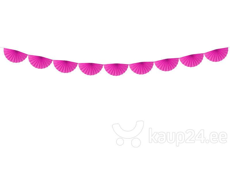 Гирлянда Rosettes Dark Pink 30 см х 3 м (1 коробка/ 50 шт)