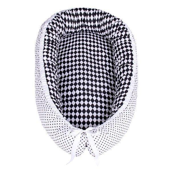Beebipesa Lulando, Black Diamonds / Dots White, 80x45 cm
