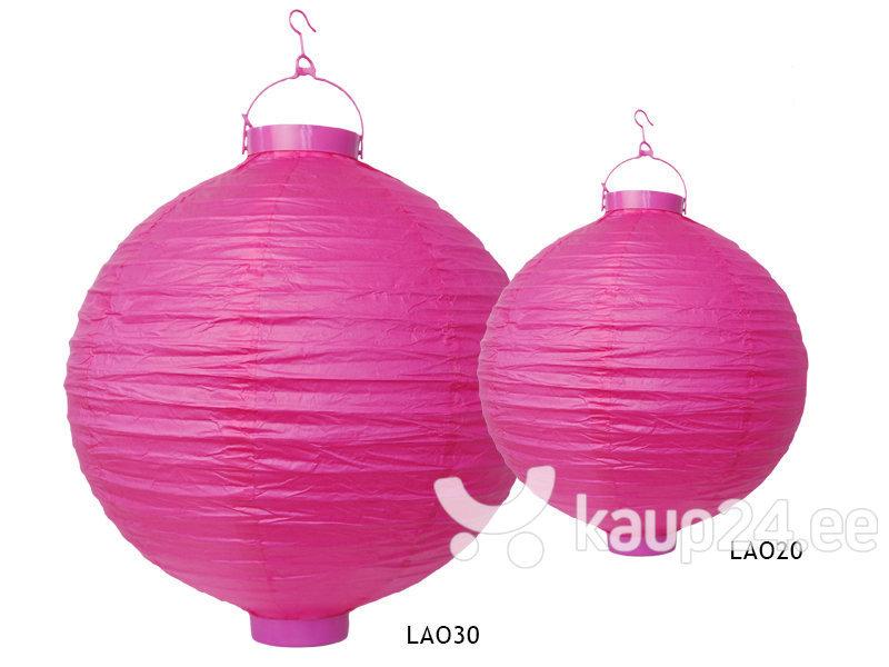 Бумажная подвесная декорация 20 см, розовая