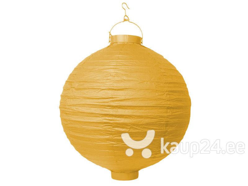 Бумажная подвесная декорация 20 см, желтая