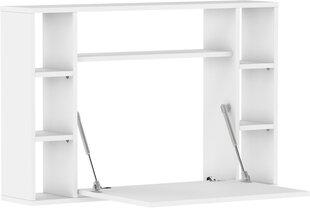 Transformeeritav riiul-arvutilaud Muse, valge hind ja info | Arvutilauad, kirjutuslauad | kaup24.ee