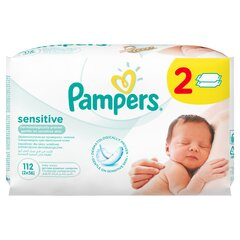 Niisked salvrätikud PAMPERS Baby Sensitive, 2x56 tk