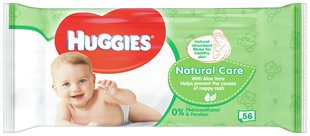Niisked salvrätikud HUGGIES Natural Care, 56tk