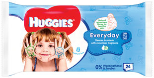 Niisked salvrätikud HUGGIES EveryDay, 24tk