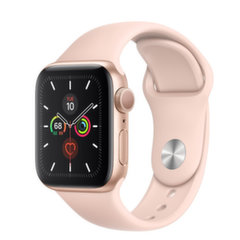Apple Watch S5, 44 mm, Kuldne/roosa