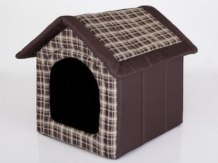 Maja-pesa Hobbydog R1 ruudud, 38x32x38 cm, pruun
