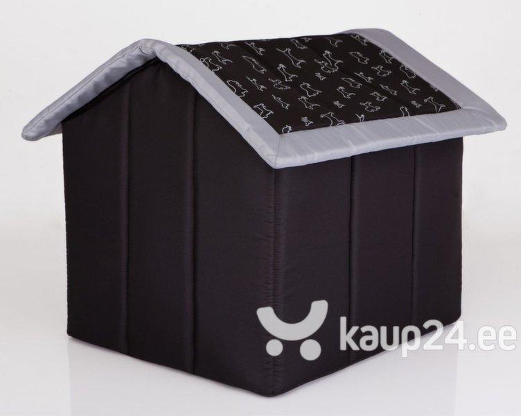 Maja-pesa Hobbydog R2 kutsikad, 44x38x45 cm, must