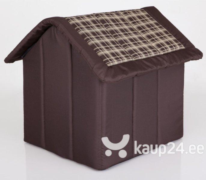 Maja-pesa Hobbydog R4 ruuduline, 60x55x60 cm, pruun Internetist
