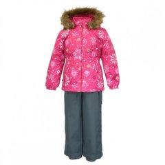 Huppa talve kombinesoon Wonder: püksid ja jope tüdrukutele, fuksia/hall, 94263
