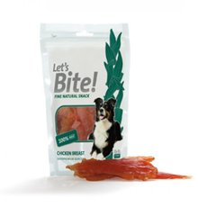 Maiustus koertele Let's Bite Dog Chicken Breast 80g