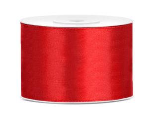 Satiinpael, punane, 50 mm/25 m, 1 tk/25 m hind ja info | Kingituste pakendid | kaup24.ee