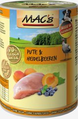 Koerakonserv Mac's Turkey & Bluberries 400 g