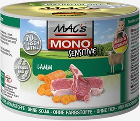 Mac's Mono Sensitive Lamb (100%) + porgandid, 400 g