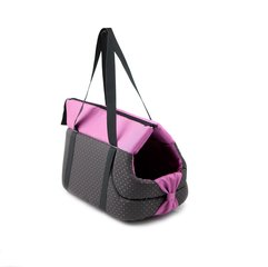 Comfy loomade transportkott Lilly 39x24x26 cm, must / roosa