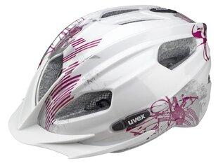 Детский велосипедный шлем Uvex Quatro Junior, белый/розовый