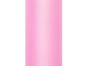 Sile tüll rullis, roosa, 0,08x20 m, 1 tk/20 m