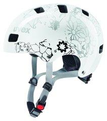Детский велосипедный шлем Uvex Kid 3 Flower, белый