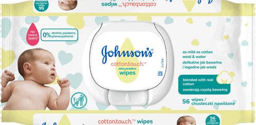 Niisked salvrätikud Johnson's Baby Cottontouch 56 tk