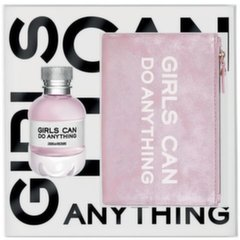 Komplekt Zadig and Voltaire Girls Can Do Anything: parfüümvesi EDP naistele 50 ml + kosmeetikakott