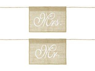 Tooli dekoratsioon Mr Mrs, 30x21,5 cm (1 karp/ 50 pakki) (1 pakk/ 2 tk)