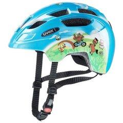 Детский велосипедный шлем Uvex Finale Junior LED, синий / многоцветный