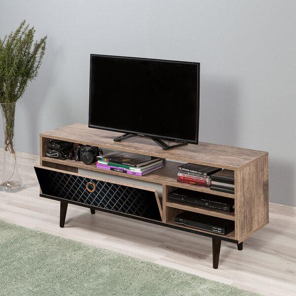 TV-laud Selsey Smartser 130 cm, pruun/must