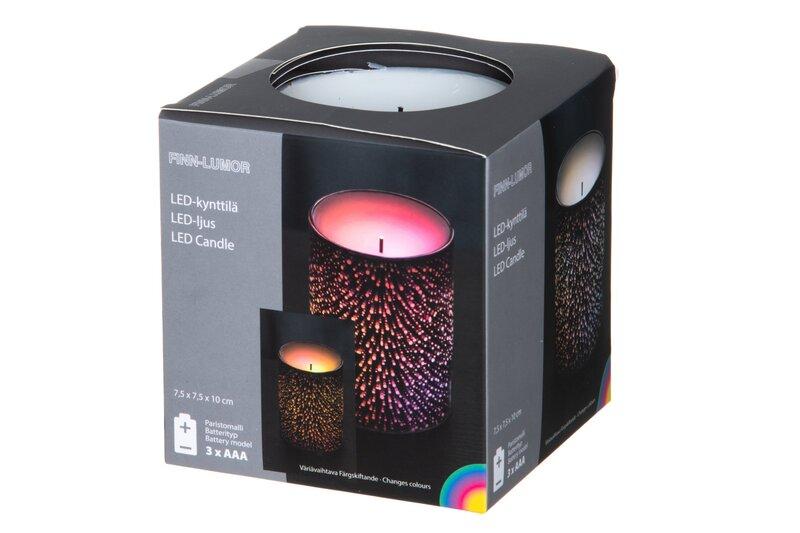 LED küünal Finn-Lumor, hõbedane