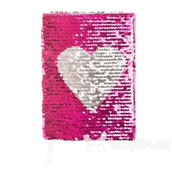 Блокнот Smiki с блестками и сердцем