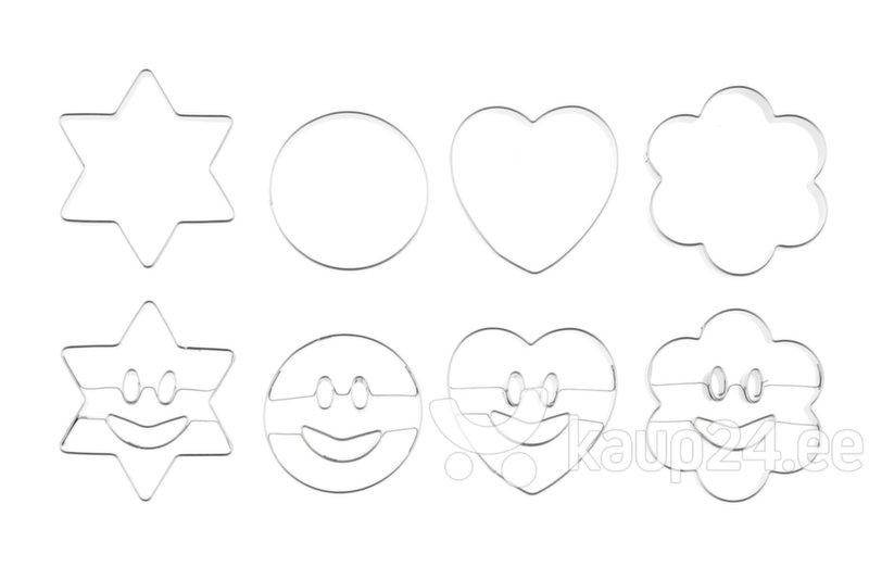 Küpsisevormi komplekt Smiley, 8 tk