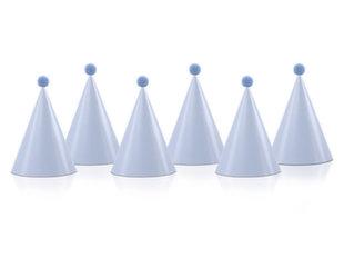 Mütsid tutiga, 16x10 cm, sinised (1 karp/ 40 pakki) (1 pakk/ 6 tk)