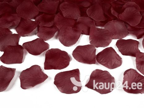 Декоративные лепестки роз, темно-красные, 1 коробка / 100 упаковок (1 упаковка / 100 шт.)