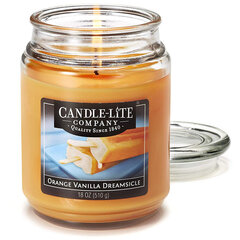 Lõhnaküünal kaanega Candle-Lite Orange Vanilla Dreamsicle, 510 g