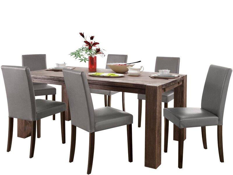 Комплект мебели для столовой Notio Living Matrix180/Liva, коричневый/светло-серый цена