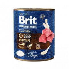 Brit Premium by Nature консервы для собак Beef with Tripes 800г цена и информация | Brit Premium by Nature консервы для собак Beef with Tripes 800г | kaup24.ee