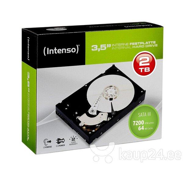 """Intenso 3.5"""" 2TB 7200/ SATA III/ 64MB HDD цена"""