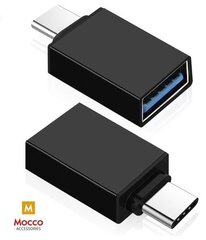 Universaalne adapter Mocco OTG Type-C to USB 3.0 Connection, must hind ja info | USB jagajad, adapterid | kaup24.ee
