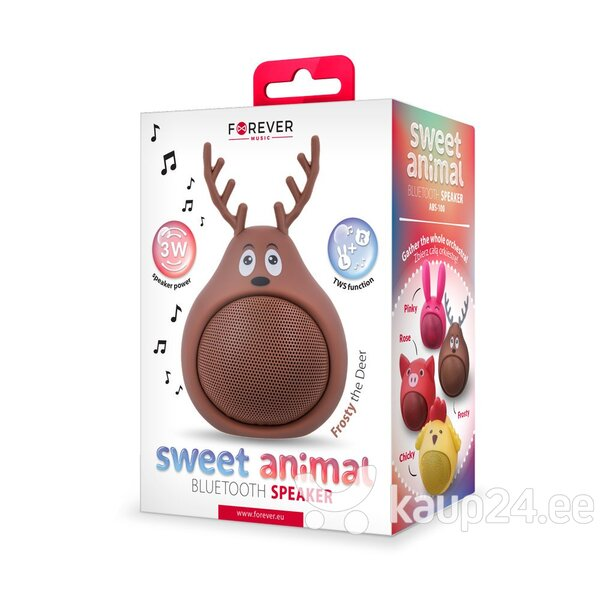Bluetooth Speaker Forever Sweet Animal Deer Frosty ABS-100 цена