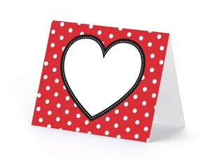 Nimekaardid Heart 8 x 6.5 cm mix (1 pakk/ 6 tk)