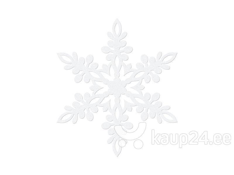 Бумажная декорация Snowflake, белая, 11 см (1 упак / 10 шт.)