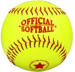 Бейсбольный мяч Abbey 23MH, желтый/красный, 9,5 см цена и информация | Товары для игры в бейсбол | kaup24.ee