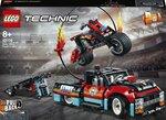 42106 LEGO® Technic Kaskadööride esinemine veoauto ja mootorrattaga hind ja info | Kokkupandavad mänguasjad | kaup24.ee