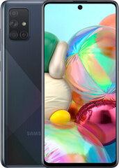 Mobiiltelefon Samsung Galaxy A71 128GB, Dual SIM, Must hind ja info | Mobiiltelefonid | kaup24.ee