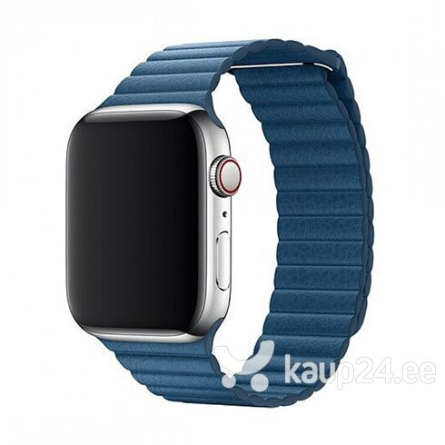 Nahast rihm Devia Elegant sobib Apple Watch(44mm), Sinine