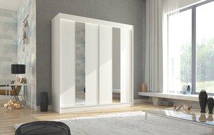 Riidekapp Adrk Furniture Balton 200 cm, valge hind ja info | Kapid | kaup24.ee