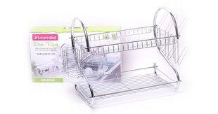 Белая сушилка для посуды KAMILLE 0764 цена и информация | Столовые и кухонные приборы | kaup24.ee