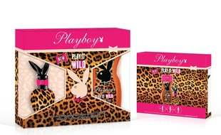 Komplekt Playboy Play It Wild EDT naistele 30 ml + dušigeel 250 ml